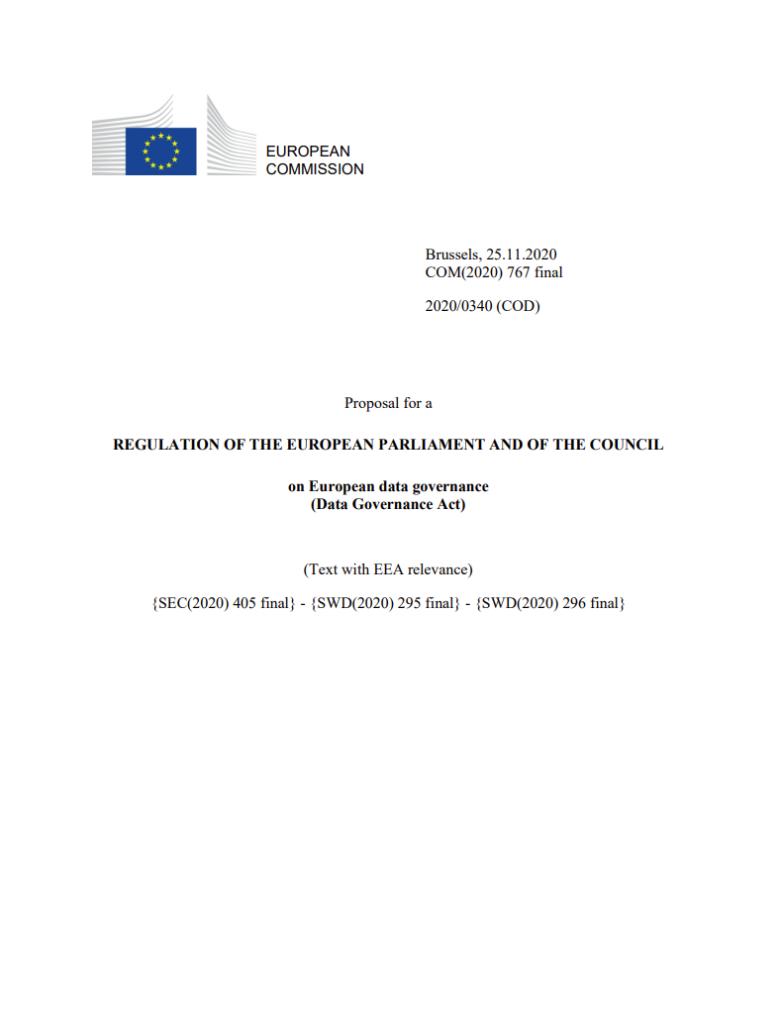 Data Governance Act Document